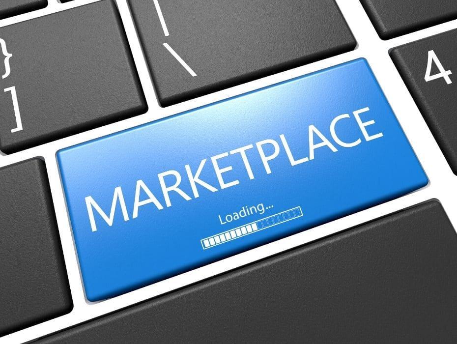 """Image de présentation de l'article, bouton d'ordinateur """"marketplace""""."""