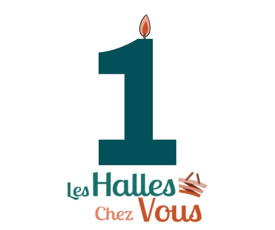 Image représentant une bougie pour le premier anniversaire des Halles Chez Vous.